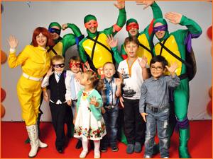 Черепашки ниндзя на детский праздник в костюмах