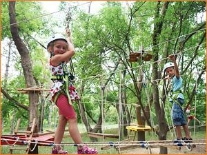 Детский тимбилдинг на веревках