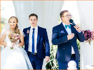 Ведущий мужчина на свадьбу