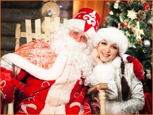 Дед Мороз и внучка Снегурочка на дом
