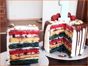 Небольшой тортик на один годик ребенку