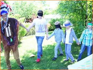 Детский квест на природе с индейцами