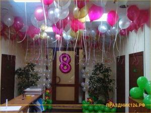 Украсили офис на 8 марта