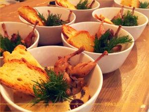 Суп пюре с курицей и сухариками