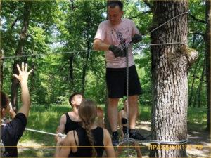 организация веревочного курса летом на природе