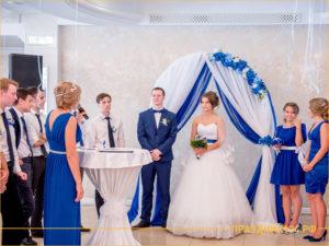 Организация свадьбы в синем стиле